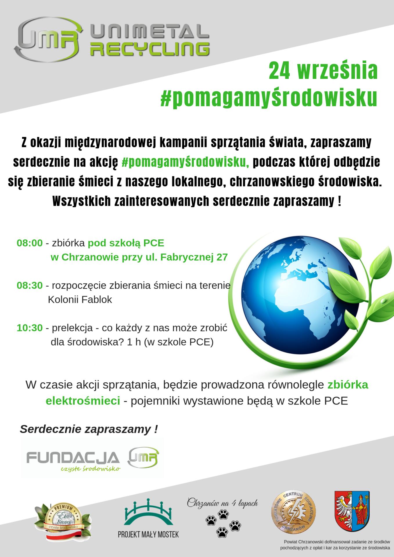 Pomagamy Środowisku zeszkołą PCE wChrzanowie